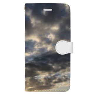 ある霜月の夕暮れ Book-style smartphone case