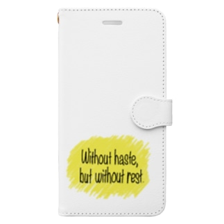 急がず休まず Book-style smartphone case
