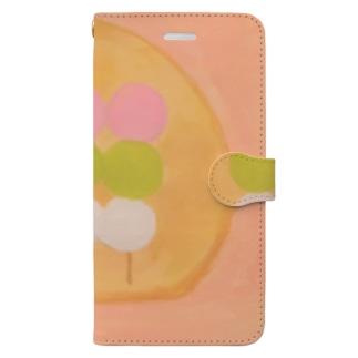 3色団子相撲 Book-style smartphone case