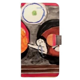 ウニ丼相撲 Book-style smartphone case