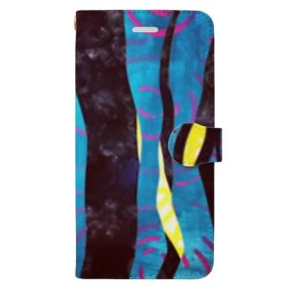 森 と湖 Book-style smartphone case
