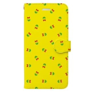 リボンの携帯ケース(黄) Book-style smartphone case