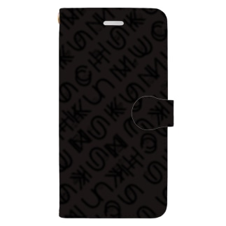 uchuFONTblack Book-style smartphone case