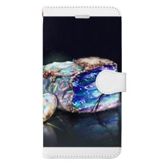 宝石シリーズ オパール  Book-style smartphone case