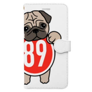 パグ-ぱぐ-PUG-パーグー グッズ Book-style smartphone case