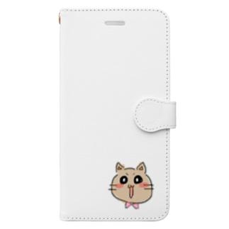 はみ猫ルーちゃん Book-style smartphone case