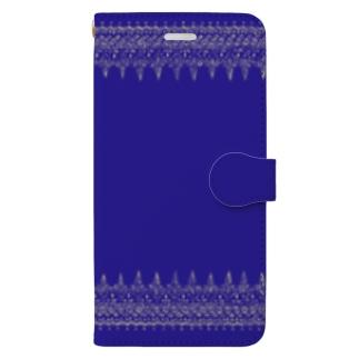 夜空に模様と蛍石スマホケース Book-style smartphone case