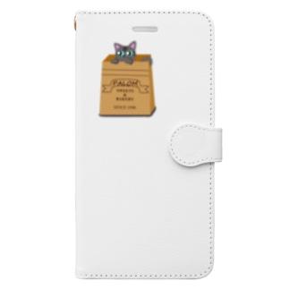 紙袋の中からねこ♪ Book-style smartphone case