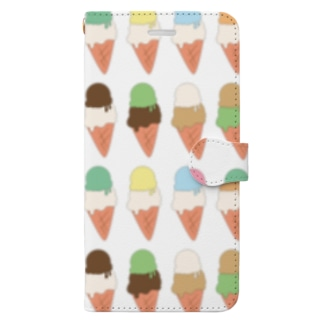 アイスクリーム Book-style smartphone case