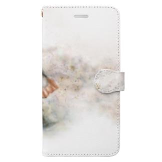 水遊びする子像 Book-style smartphone case