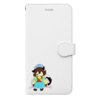 狐娘の柚葵羽ちゃん Book-style smartphone case
