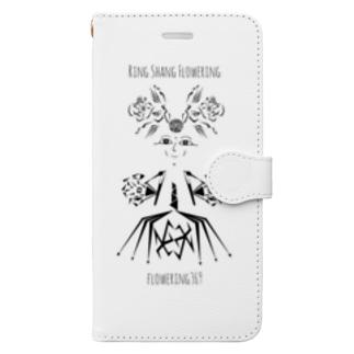 """ドレスを着た花の妖精""""りんさん"""" Book-style smartphone case"""