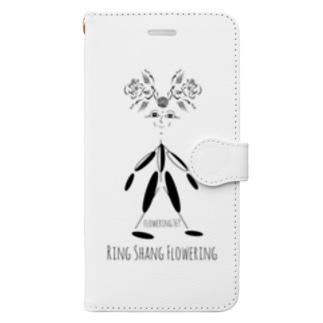 """花の妖精""""りんさん"""" Book-style smartphone case"""