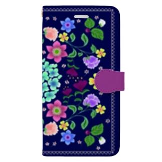 フラワーカーニバル Book-style smartphone case