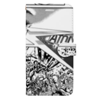"""宮西計三『エレベーション Sa・Yo・Na・Ra』 """"Laser-Eye"""" Book-style smartphone case"""