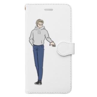 我らがメガネ男子 Book-style smartphone case