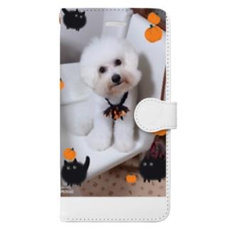 ハロウィンモコ Book-style smartphone case