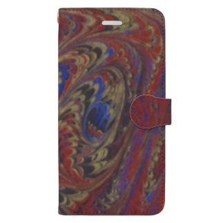 トルコのマーブル模様|ビュルビュルユワス2 Book-style smartphone case