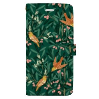 オリーブの森 グリーン Book-style smartphone case