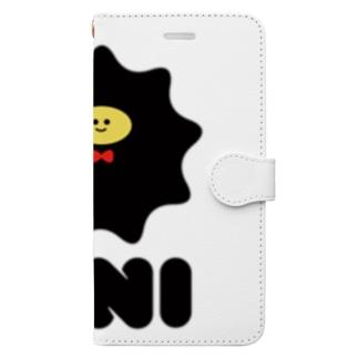 シンプルなウニ Book-style smartphone case