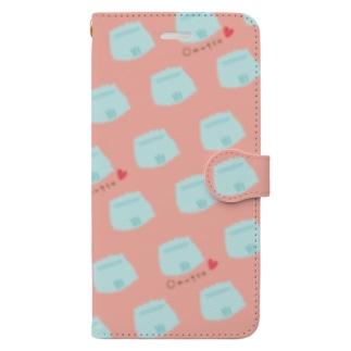 オムツパレード ピンク Book-Style Smartphone Case
