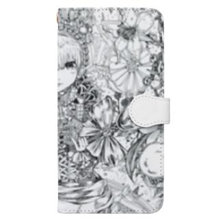 スプーンの女王(白黒) Book-style smartphone case