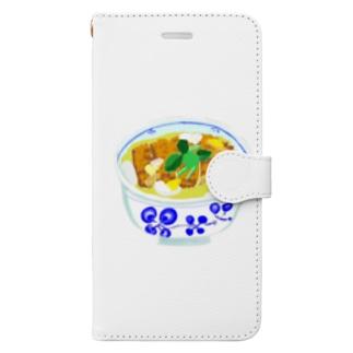 カツ丼 Book-style smartphone case