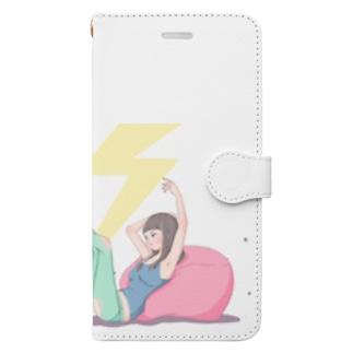 女の子 Book-style smartphone case