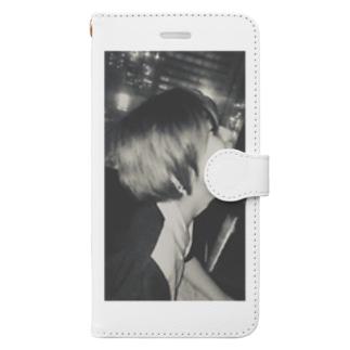 私。 Book-style smartphone case
