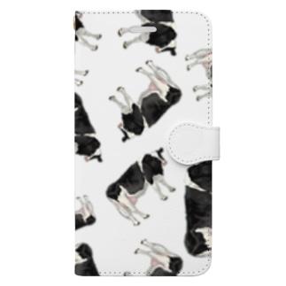 いっぱいいっぱいホルスタインさん Book-style smartphone case