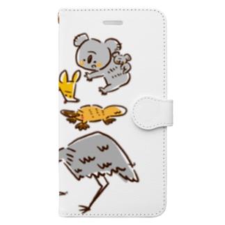 オーストラリアアニマル(500円募金) Book-style smartphone case