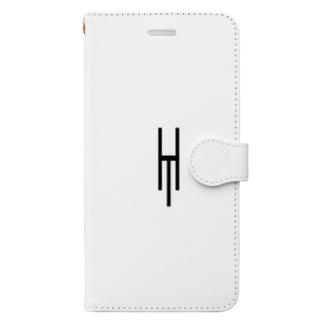 Tsubara Hayashi Official Logo 【White】 Book-style smartphone case