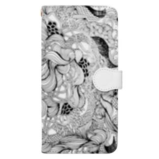 うねうね Book-style smartphone case