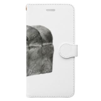 食パン(少し大きめ) Book-style smartphone case