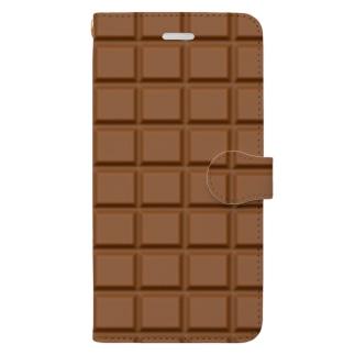 板チョコ Book-Style Smartphone Case