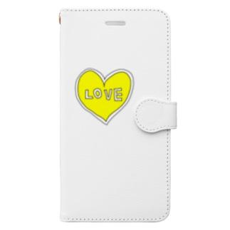 きいろいハートiPhone Book-style smartphone case