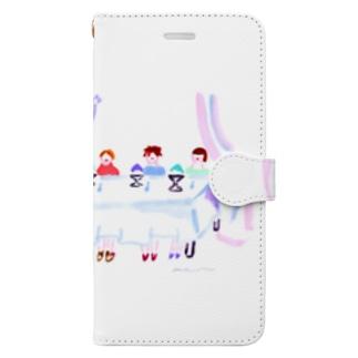 かき氷パーティー Book-style smartphone case