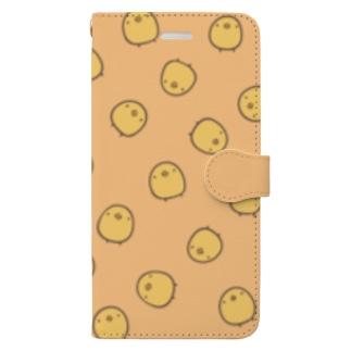 ひよこさんがいっぱい(手帳用) Book-style smartphone case