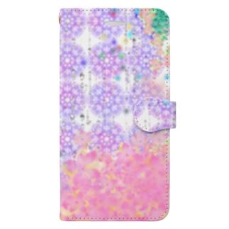 福猫の花壇のHappy Rain Book-style smartphone case