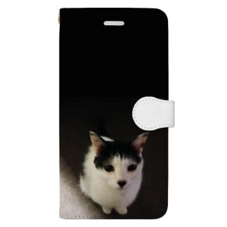 可愛いにゃん太 Book-style smartphone case