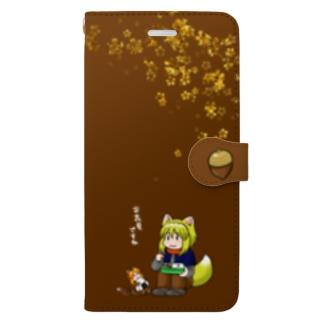 一緒にお花見 Book-style smartphone case