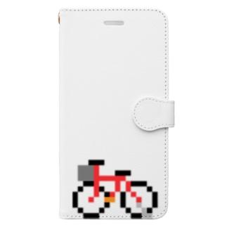 ちょこっとお絵描き 自転車 Book-style smartphone case