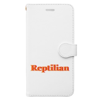 Reptilian ヒト型爬虫類 グッズ Book-style smartphone case