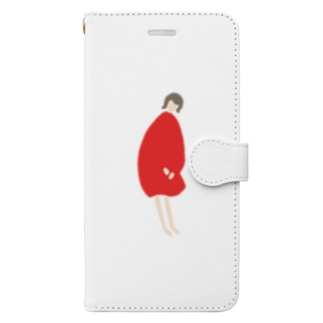 kanna red one-piece Book-style smartphone case