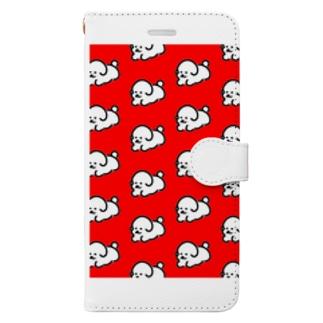 仔犬の大群 Book-style smartphone case