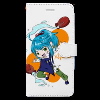 四畳半工房の水瓶座男子 Book-style smartphone case