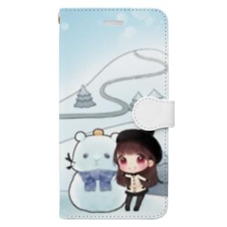 2019年冬会長DVDのスマホケース Book-style smartphone case