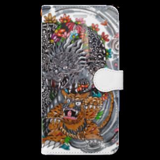 🔥Ryuu🔥絵描き師🔥依頼はDMください😄の龍と虎 Book-style smartphone case