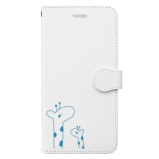 kirin.boutiqueのキリンさん親子 Book-style smartphone case