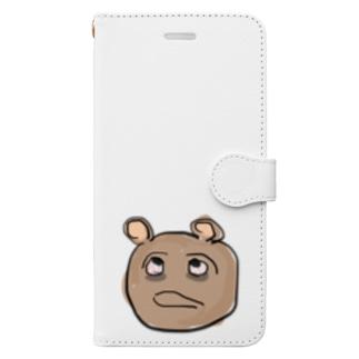 熊と隈 Book-style smartphone case
